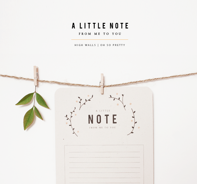 A Little Note | Printable