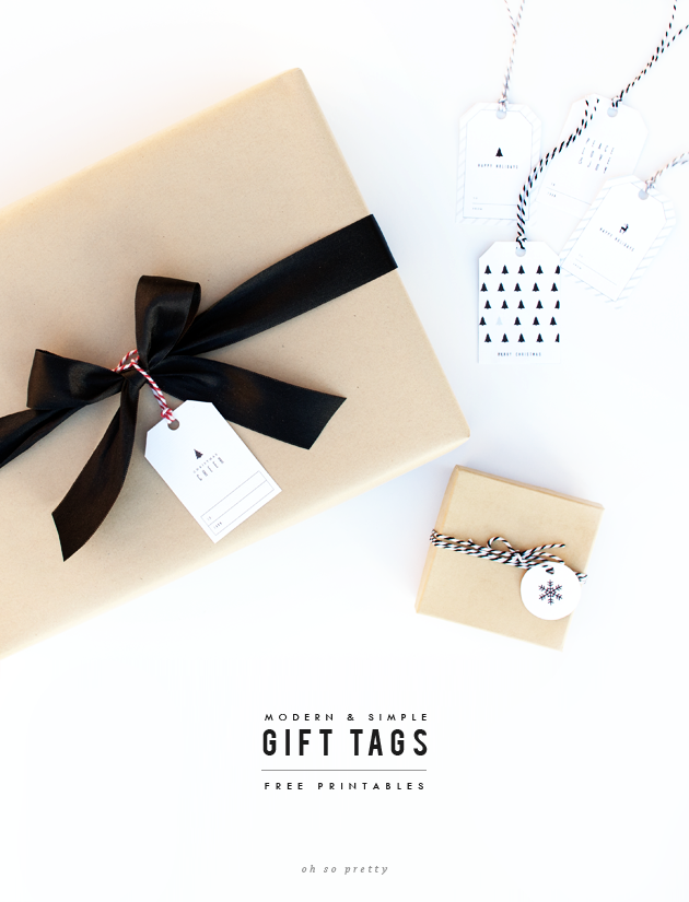 Oh So Pretty: Free Printables | Holiday Gift Tags