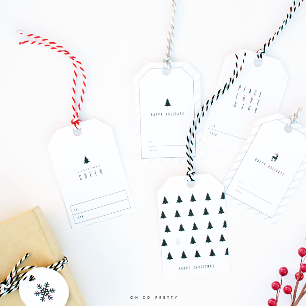 Oh so pretty free printables holiday gift tags free printable gift tags negle Gallery